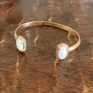 Kendra Scott Rose Gold and Pearly Stone Cuff